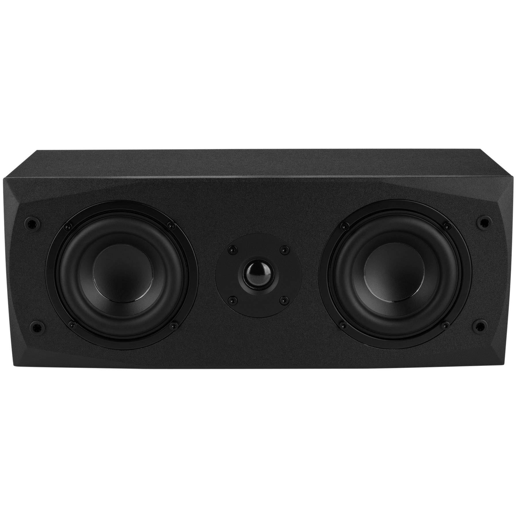 Dayton Audio MK442 Dual 4'' 2-Way Center Channel Speaker by Dayton Audio
