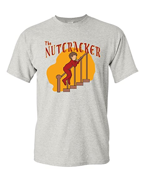 fdce98c5b The Nutcracker Christmas T-Shirt Funny Xmas Holiday Spirit Mens Tee Ash  Gray S