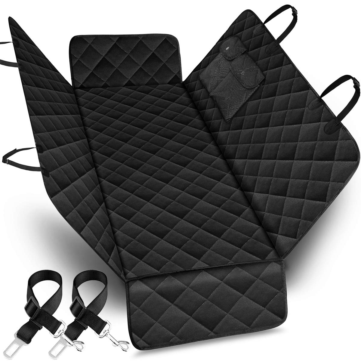 URPOWER 100% Waterproof Pet Seat Cover Car Seat Cover for Pets - Scratch Proof & Nonslip Backing & Hammock, Quilted, Padded, Durable Pet Seat Covers for Cars Trucks and SUVs by URPOWER