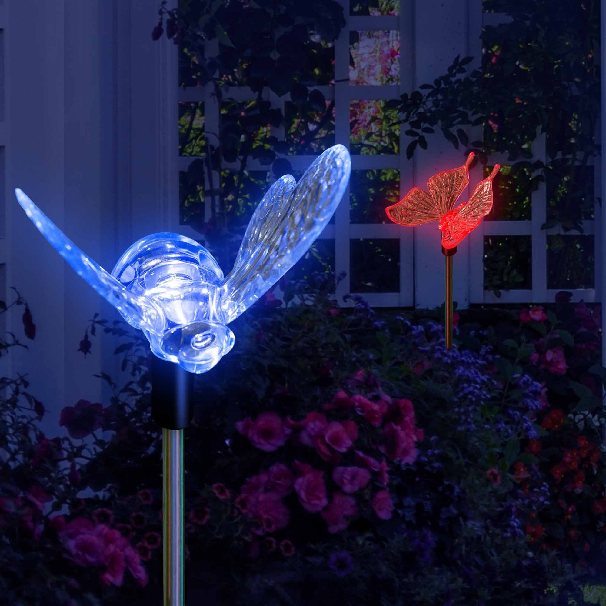 SolarDuke Solar Garden Outdoor Stake Lights Butterfly and Bumble Bee Garden Lighting Path Decoration Color Changing Patio Lawn Backyard Decor by SolarDuke (Image #5)