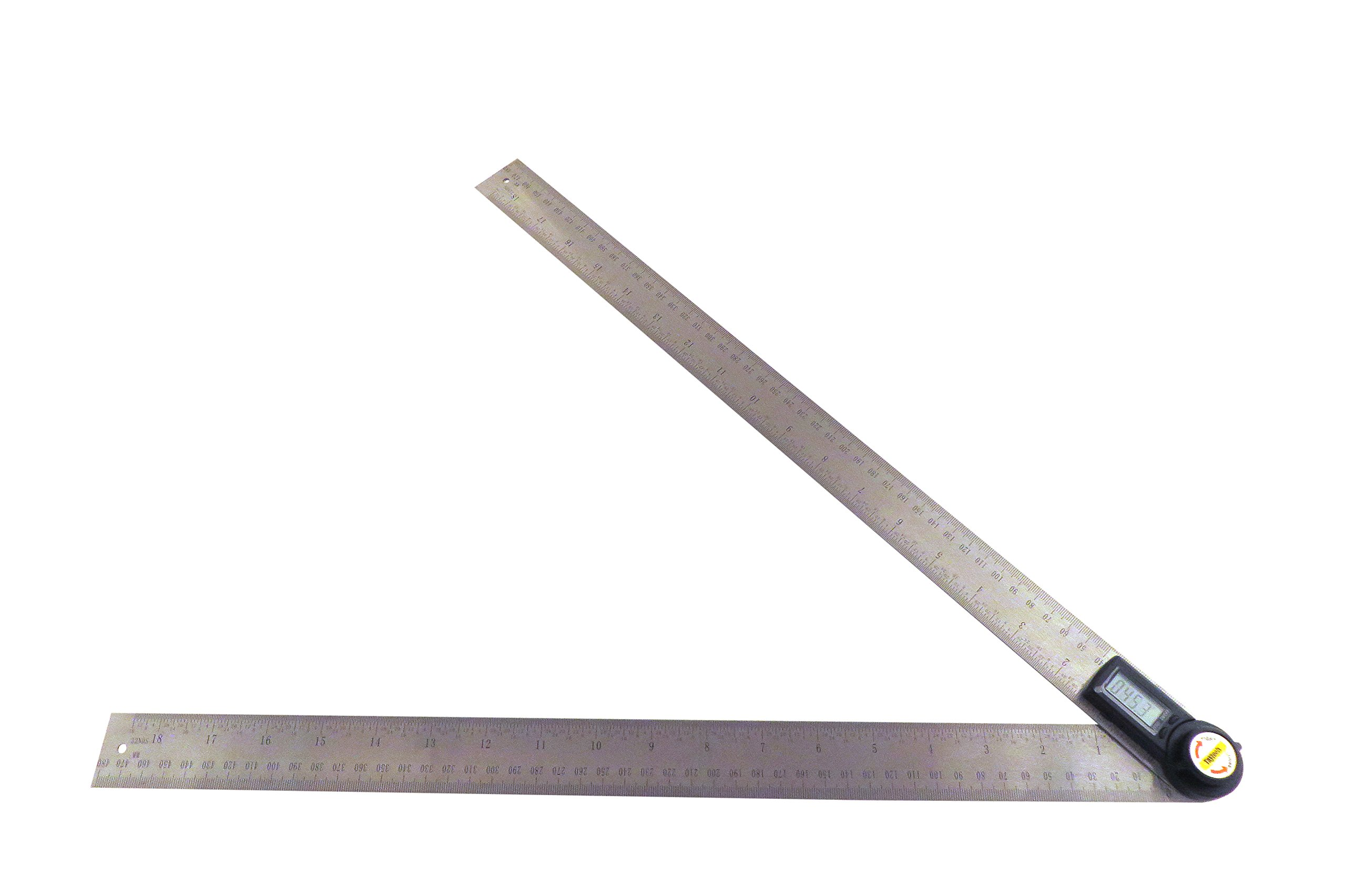Taytools 500 mm 20'' 2 in 1 Digital Protractor Digital Goniometer Digital Angle Finder Ruler with Stainless Steel Blades 114115