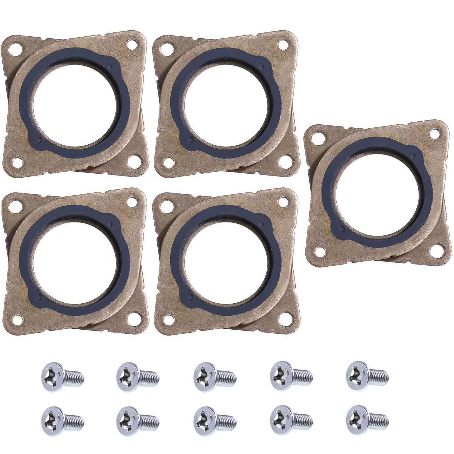 5 Pieces Stepper Motor Steel and Rubber Vibration Damper and 10 Pieces M3 Screws for CNC, NEMA 17 3D Printer (Color 2) Gejoy