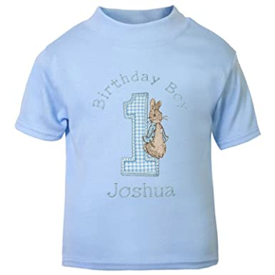Boys Peter The Rabbit Personalised 1st Birthday T Shirt Cake Smash