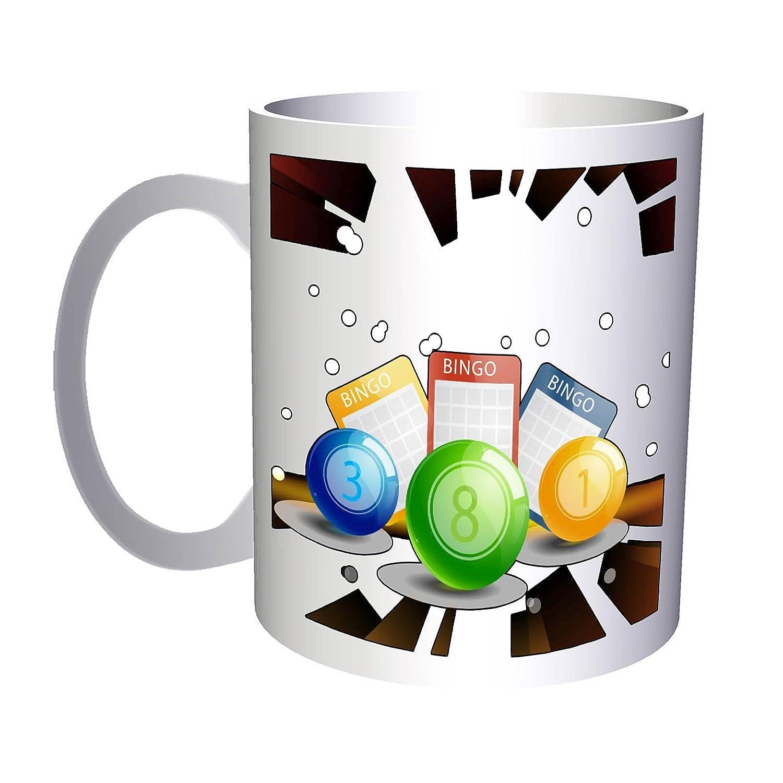 Bingo juego lotería ganar éxito regalo 330 ml taza e915: Amazon.es: Hogar