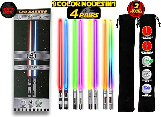 Amazon.com: Palillos de luz LED de Star Wars, reutilizables ...