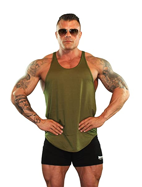97416c622ddbb Physique Bodyware Mens Y Back Stringer Tank Top. Made In America (Extra  Small