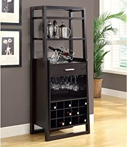"""Monarch Specialties , Home Bar, Ladder Style, Cappuccino, 60""""H"""