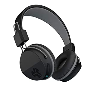 JLab Audio Neon Bluetooth Folding On-Ear Headphones   Wireless Headphones   13 Hour Bluetooth Playtime   Noise Isolation   40mm Neodymium Drivers   C3 Sound (Crystal Clear Clarity)   Black