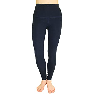 90 Degree By Reflex High Waist Cotton Power Flex Leggings - Tummy Control