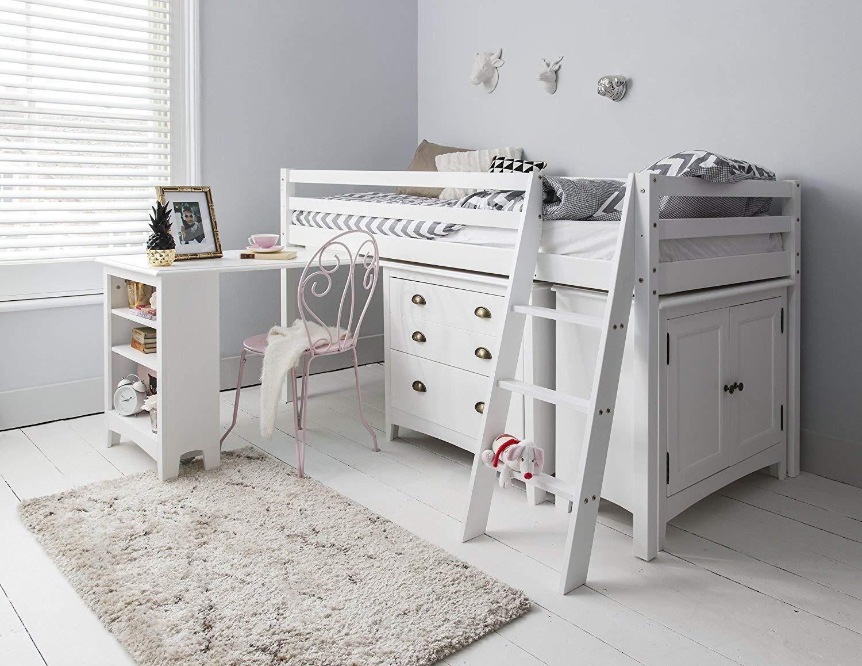 Etagenbett Eiche Sägerau : Hochbett dieses lackierte bett einzelbettgestell mit schreibtisch