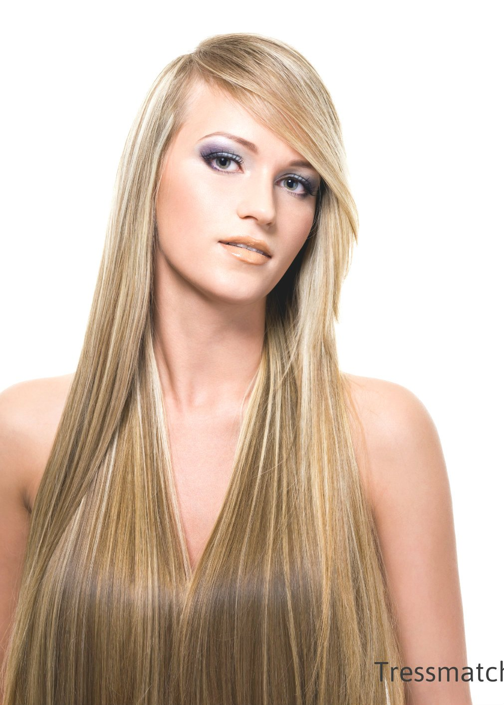 "Amazon.com : Tressmatch 20""-22"" Remy Human Hair Clip In"