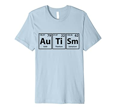 mens autism periodic table elements spelling t shirt 2xl baby blue - Periodic Table Autistic