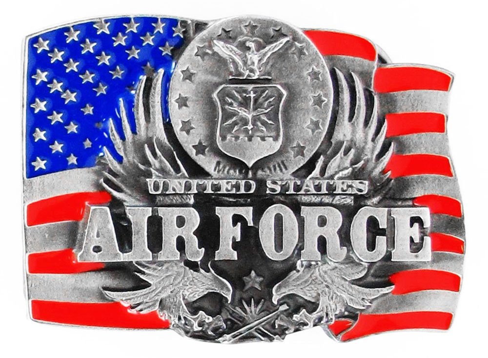 US Air Force Pewter Belt Buckle - United States Air Force