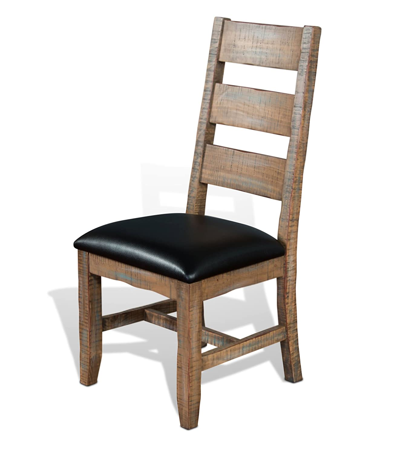 Amazon.com - Sunny Designs Puebla Ladder Back Dining Chair in Driftwood - Chairs  sc 1 st  Amazon.com & Amazon.com - Sunny Designs Puebla Ladder Back Dining Chair in ...