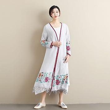 YAN Ropa de Abrigo de Las Mujeres Verano Nuevo Bordado Vestido de Borla étnica Vestidos de