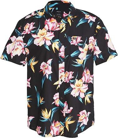 RVCA Akora - Camisa de manga corta para hombre: Amazon.es: Ropa y accesorios
