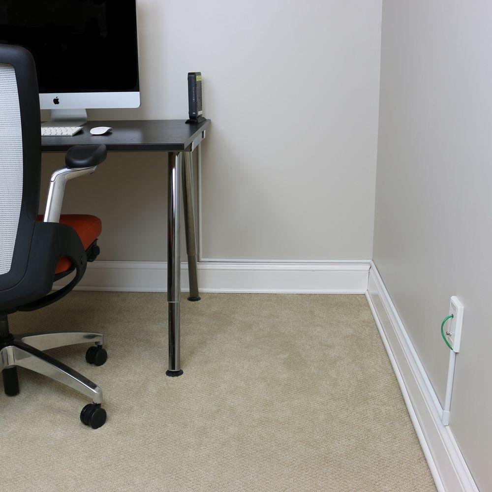 Marvelous Chair Rail Cord Organizer Kit Part - 4: Amazon.com: Legrand - Wiremold C10 Cordmate Cord Channel, White: Home  Improvement