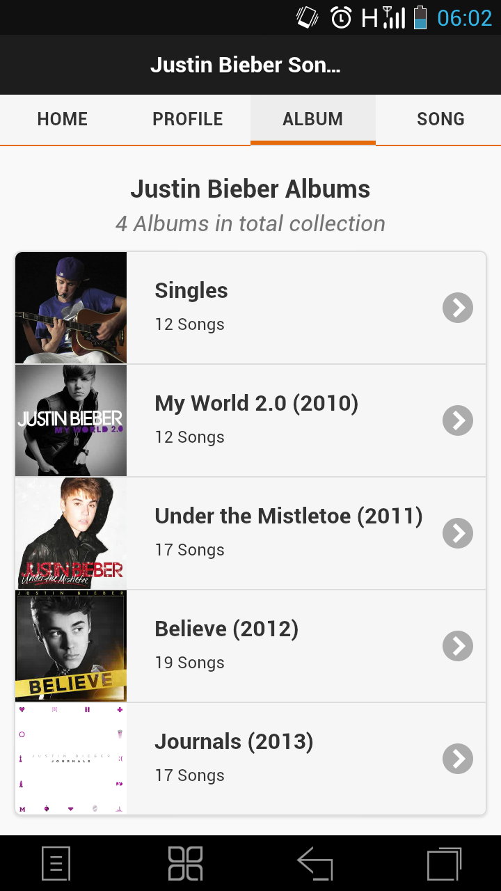 Amazon.com: Justin Bieber Song Lyrics: Appstore for Android