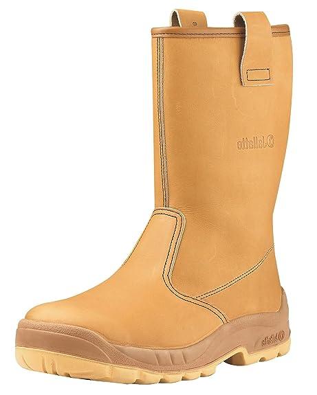 Jallatte - Calzado de protección de Piel para hombre, color marrón, talla 35 EU