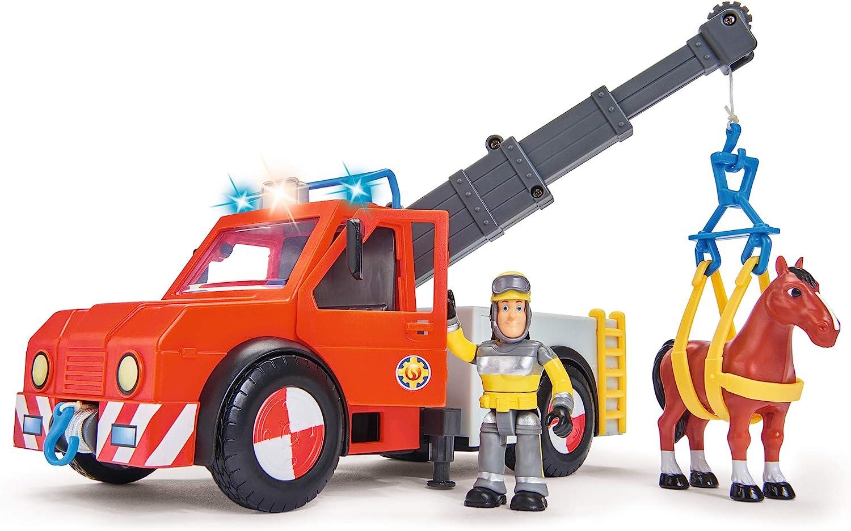 Sam el bombero - camión Rescate 23 cm con Figura y Caballo (Simba ...