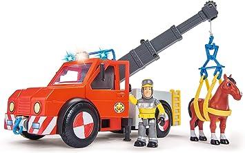 Sam el bombero - camión Rescate 23 cm con Figura y Caballo ...