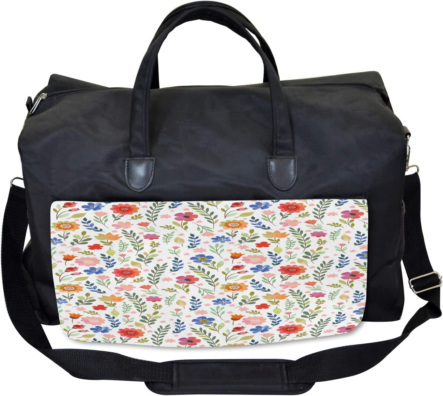 Soft Colored Floret Large Weekender Carry-on Ambesonne Shabby Chic Gym Bag