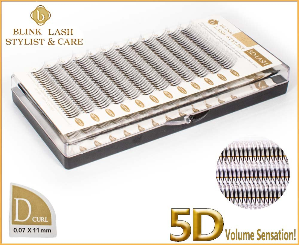 ciglia Blink Lash Stylist per l'estensione del ciglio D curl- grossezza 0,07 mm, in lunghezza 8 mm.