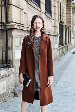 Womens HIDRRU Lana la mujer abrigo de lana de lana en el invierno de 2017 manga