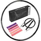 Nordic Fit Adjustable Weighted Dance & Fitness Professional Hula Hoop with Resistance Bands, Great for Burning Fat…