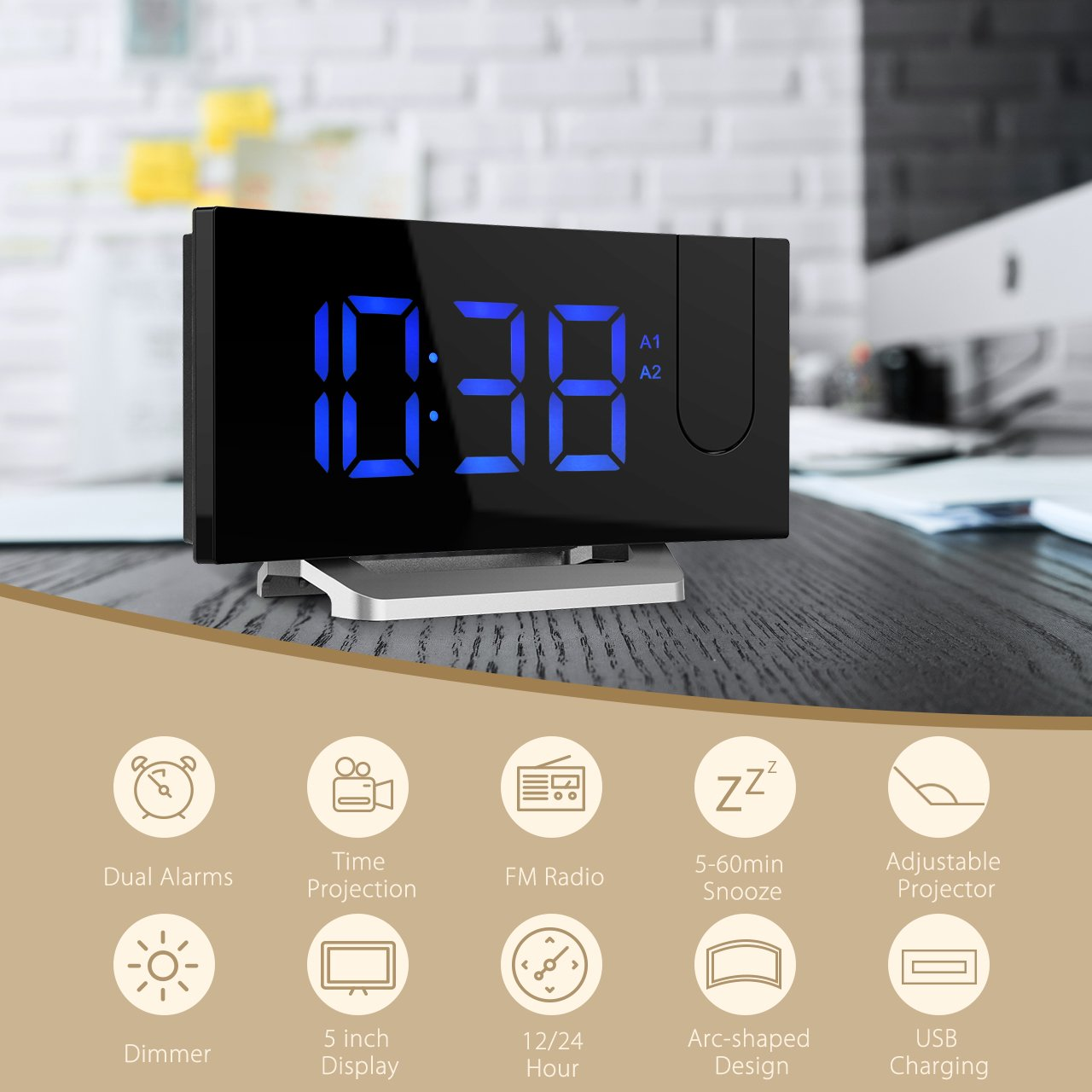 Amazon update versionprojection clock curved screen amazon update versionprojection clock curved screenatmoko digital alarm clock fm clock radio with usb charging dual alarm 5 led display amipublicfo Images