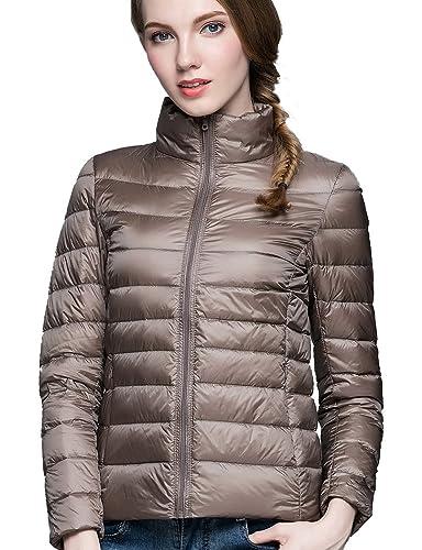Cherry Chick Packable Ultra de las mujeres chaqueta de plumón ligero (Nylon resistente al agua carcasa)