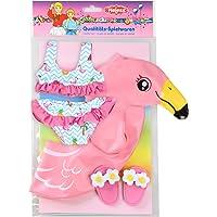 Heless-Set de natación para muñecas, Flamingo Ella, Color