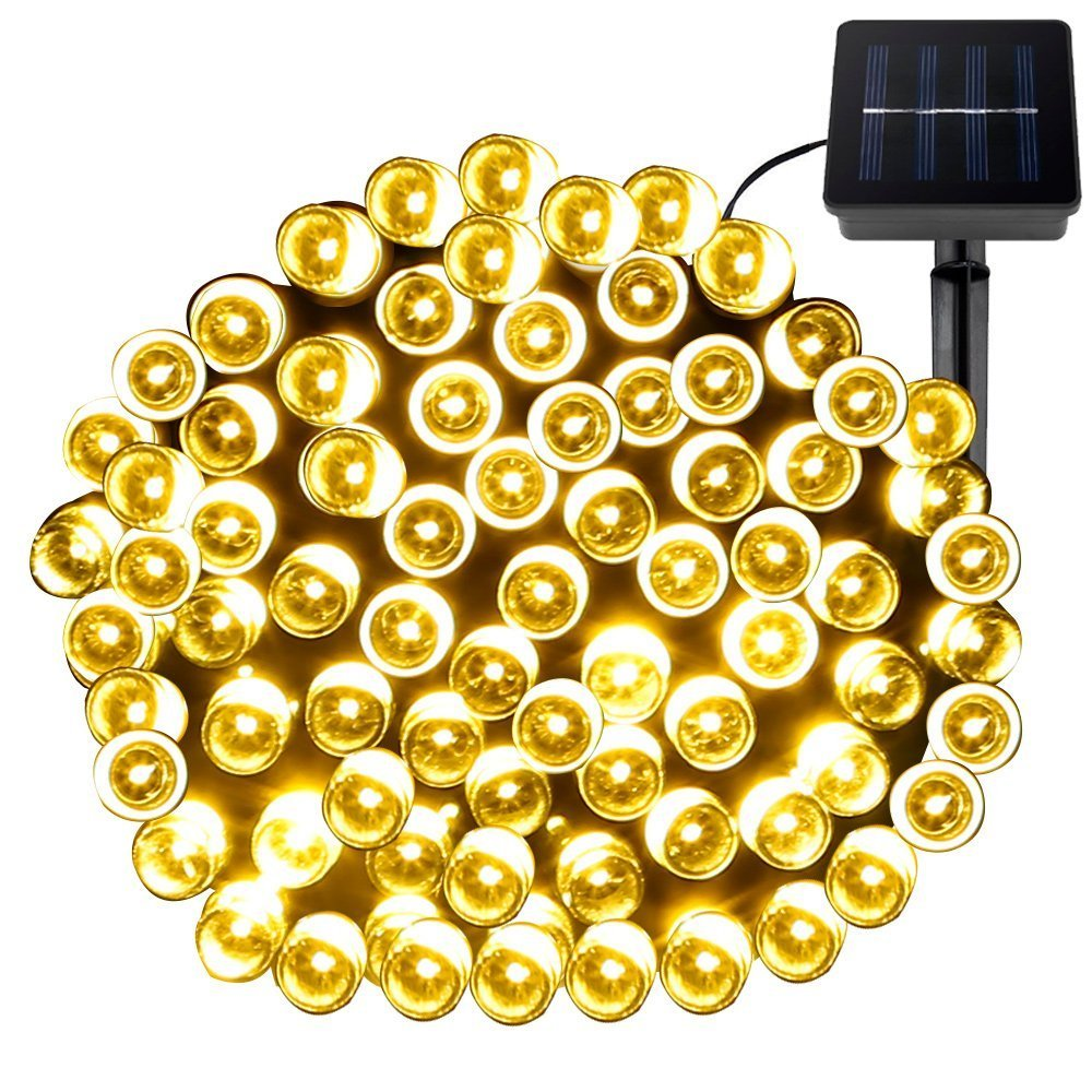 LE イルミネーションライト 100 LED 17m 光センサー ストリングライト 防水 イベント パーティー 結婚式 クリスマス 装飾 電球色 B015IZYTDA 12110