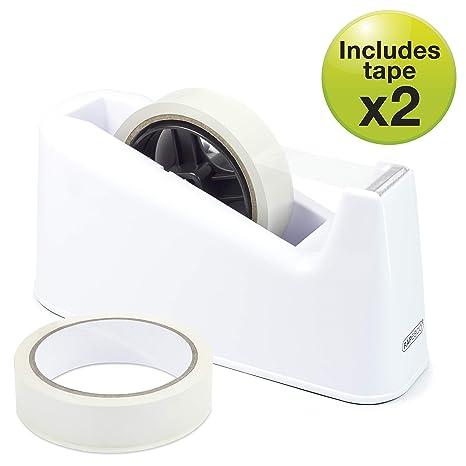 Rapesco accesorios - Dispensador 500 de cinta adhesiva de alta capacidad mas 2 rollos de cinta