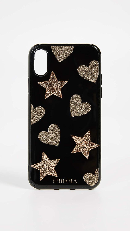 24ee5ffb2c Amazon.com: Iphoria Glitter Heart & Star iPhone X Case, Heart Star Pattern,  iPhone X: Cell Phones & Accessories