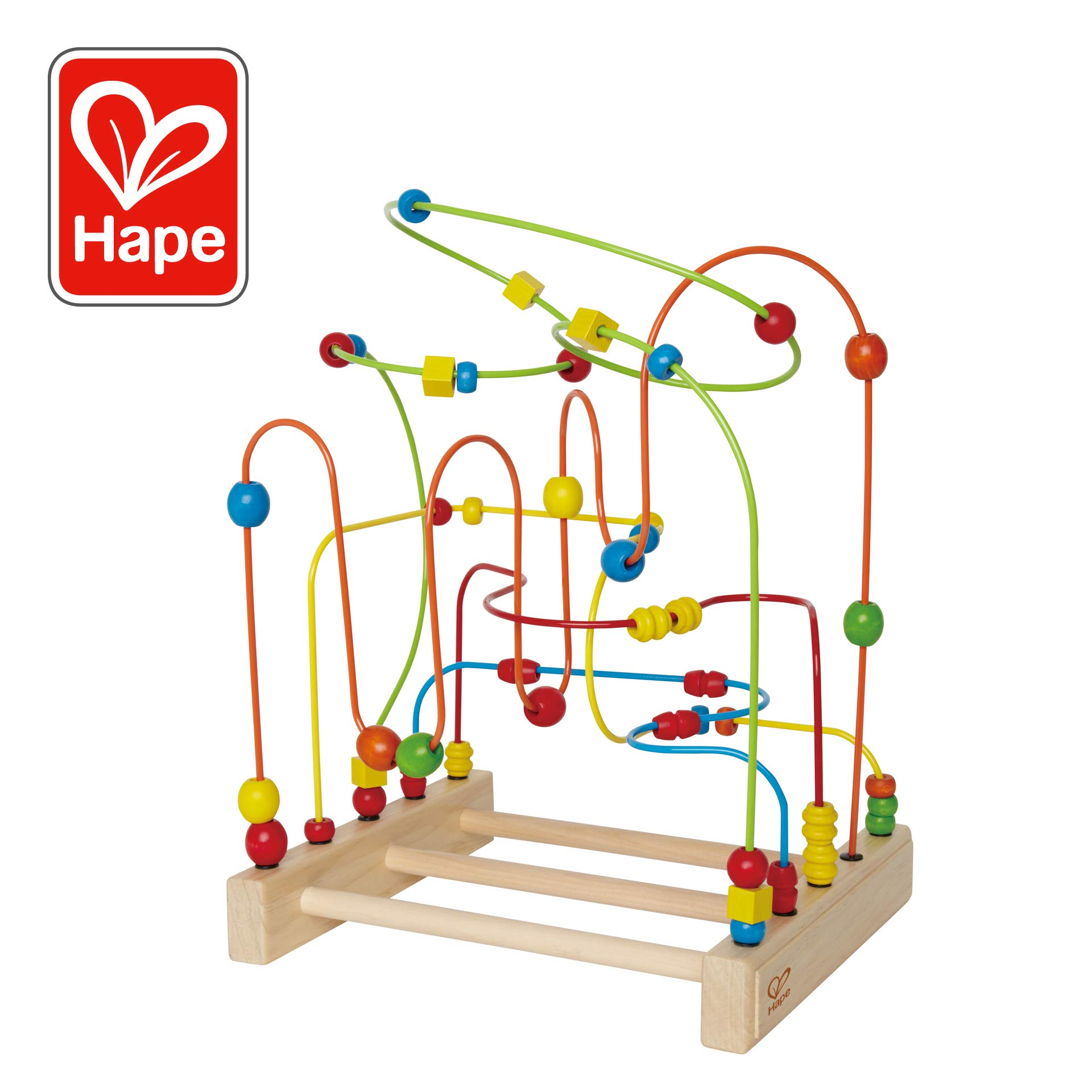 Award Winning Hape Original Supermaze Wooden Bead Activity Learning Center