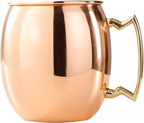 Amazon Com 24 Oz Old Dutch Solid Copper Moscow Mule Mug With Brass Accents Kitchen Dining
