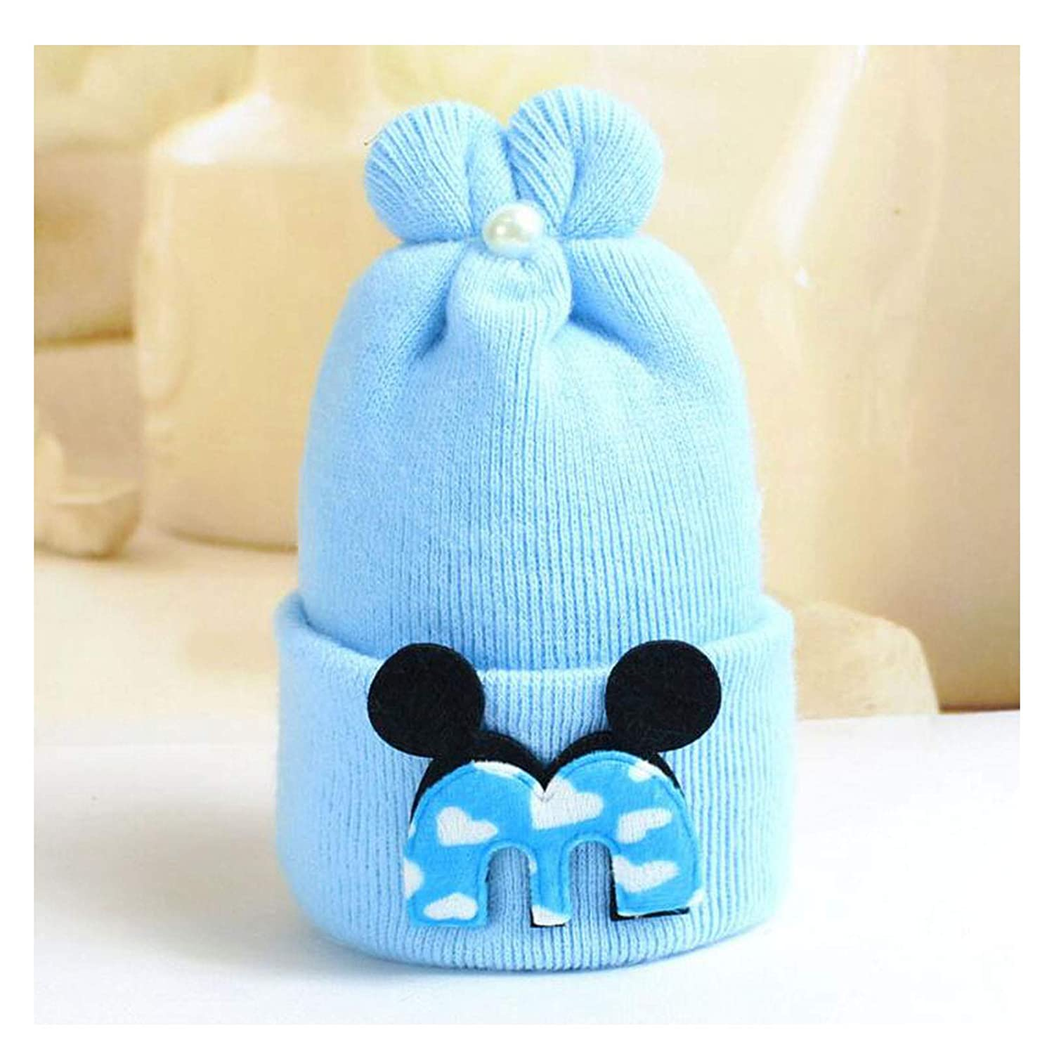 ba2dbf3795f Amazon.com  Winter Toddler Knitted Baby Caps Adorable Rabbit Long Ear Hat  Baby Bunny Beanie Cap Photo Props Hats  Clothing