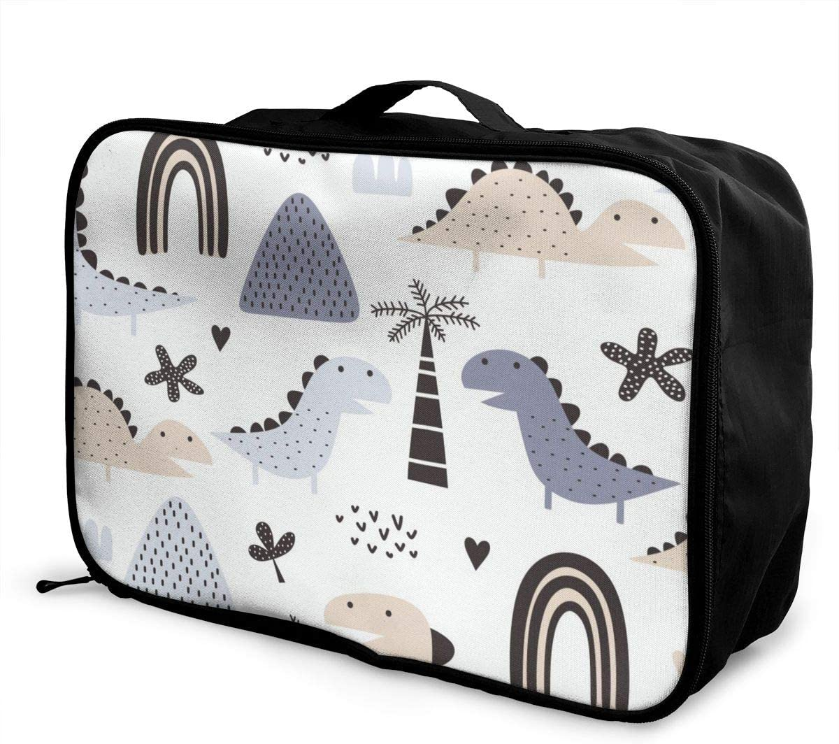 Scandinavian Style Dinosaur And Pastel Colored Lightweight LargeTravel Storage Luggage Trolley Bag Travel Duffel Bags Carry-On Tote