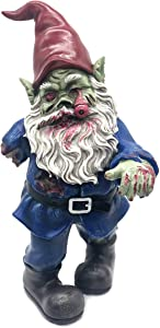 FICITI Zombie Gnome Evil Gnome Scary Gnome Walking Dead Gnome Gnombia Garden Statue, Halloween Decoration - 10 inches