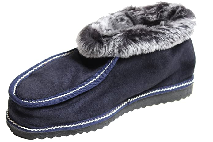 BRUBAKER Pantofole babbucce comode e morbide per uomo donna in pelle  d agnello suola profilata maronne blu misure 35-47  Amazon.it  Scarpe e  borse b052d32c9d4