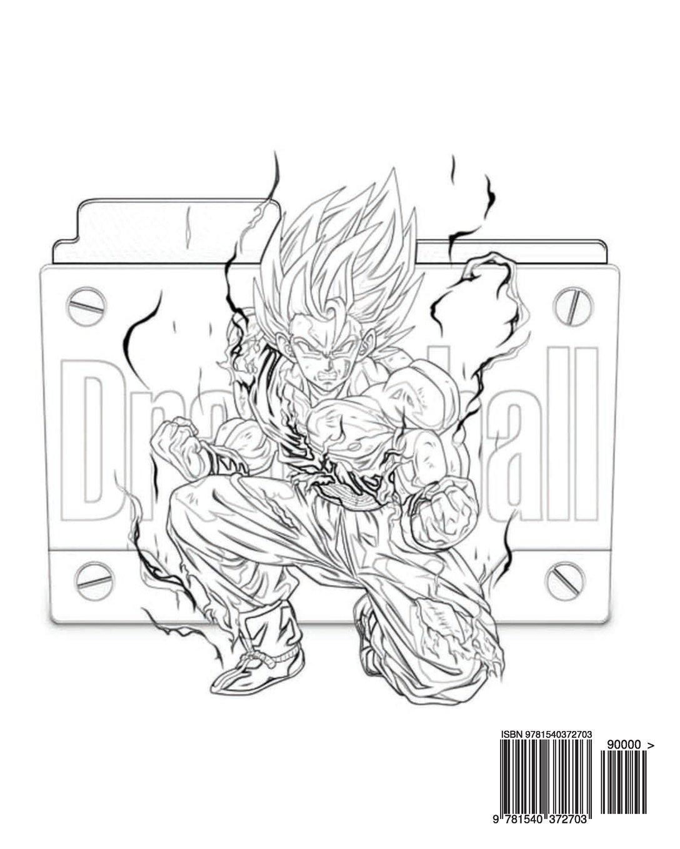 83 Dragon Ball Z Coloring Book Amazon