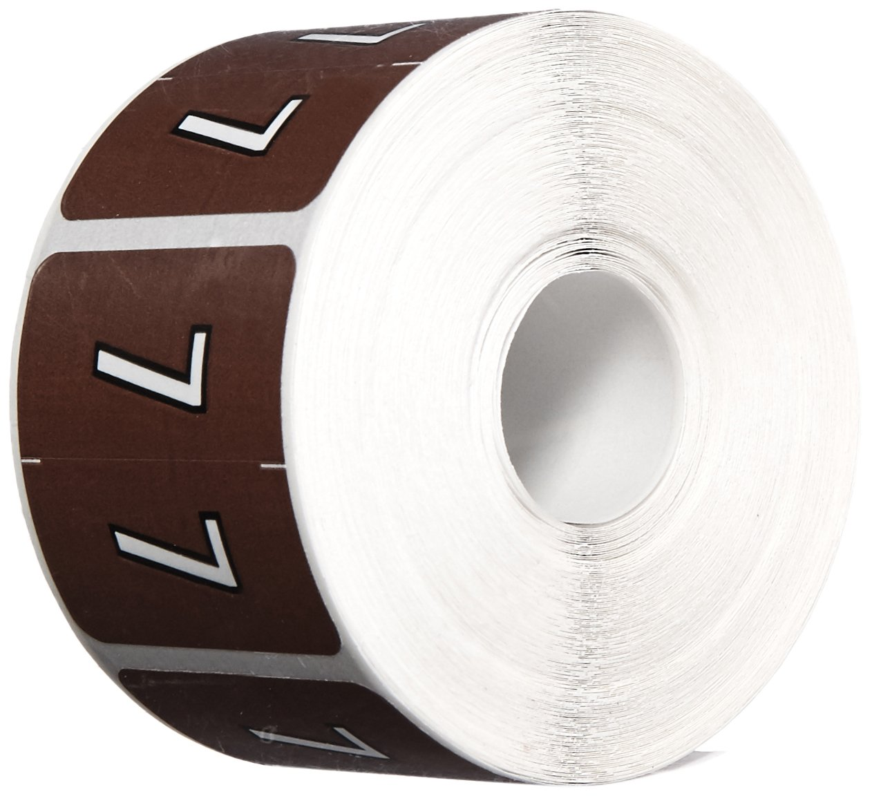 BARKLEY COMPATIBLE BKNM-7 Bknm Color Code Numeric 7'' Label, 1-1/2 x 1-1/2, Brown Permanent (Pack of 500)
