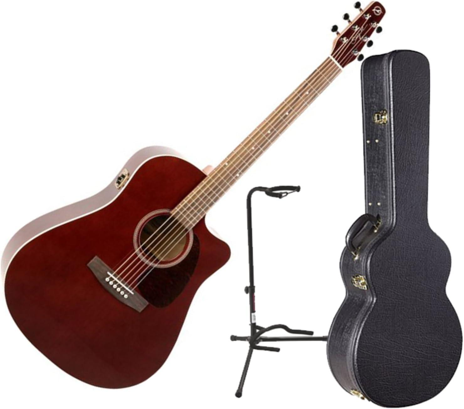 Gaviota séquito Burdeos CW GT Qi acústica guitarra eléctrica w ...