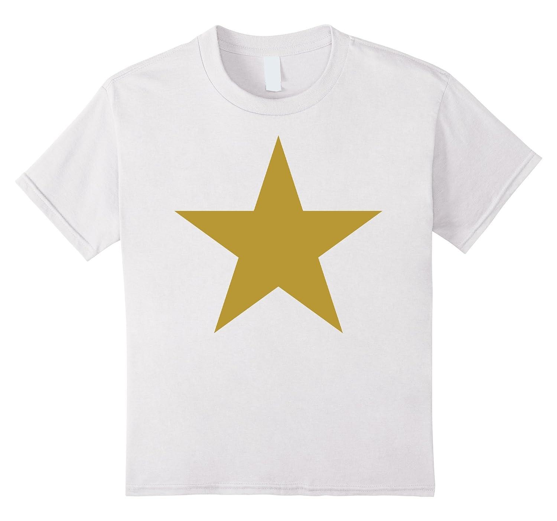 Kids Gold Star Graphic T Shirt-Awarplus