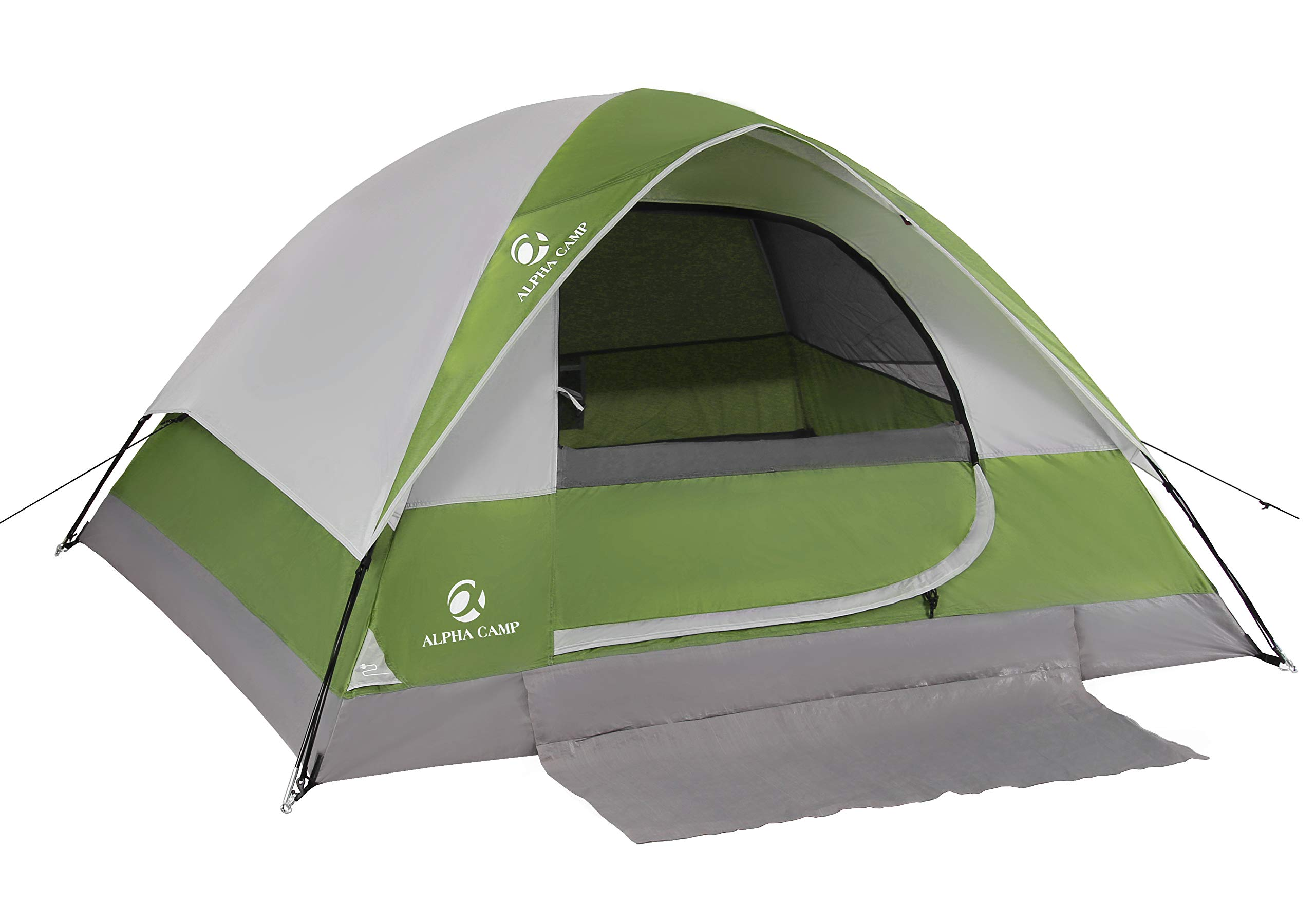 ALPHA CAMP 2-Person Camping Dome Tent with Carry Bag, Lightweight Waterproof Portable Backpacking Tent for Outdoor Camping/Hiking by ALPHA CAMP