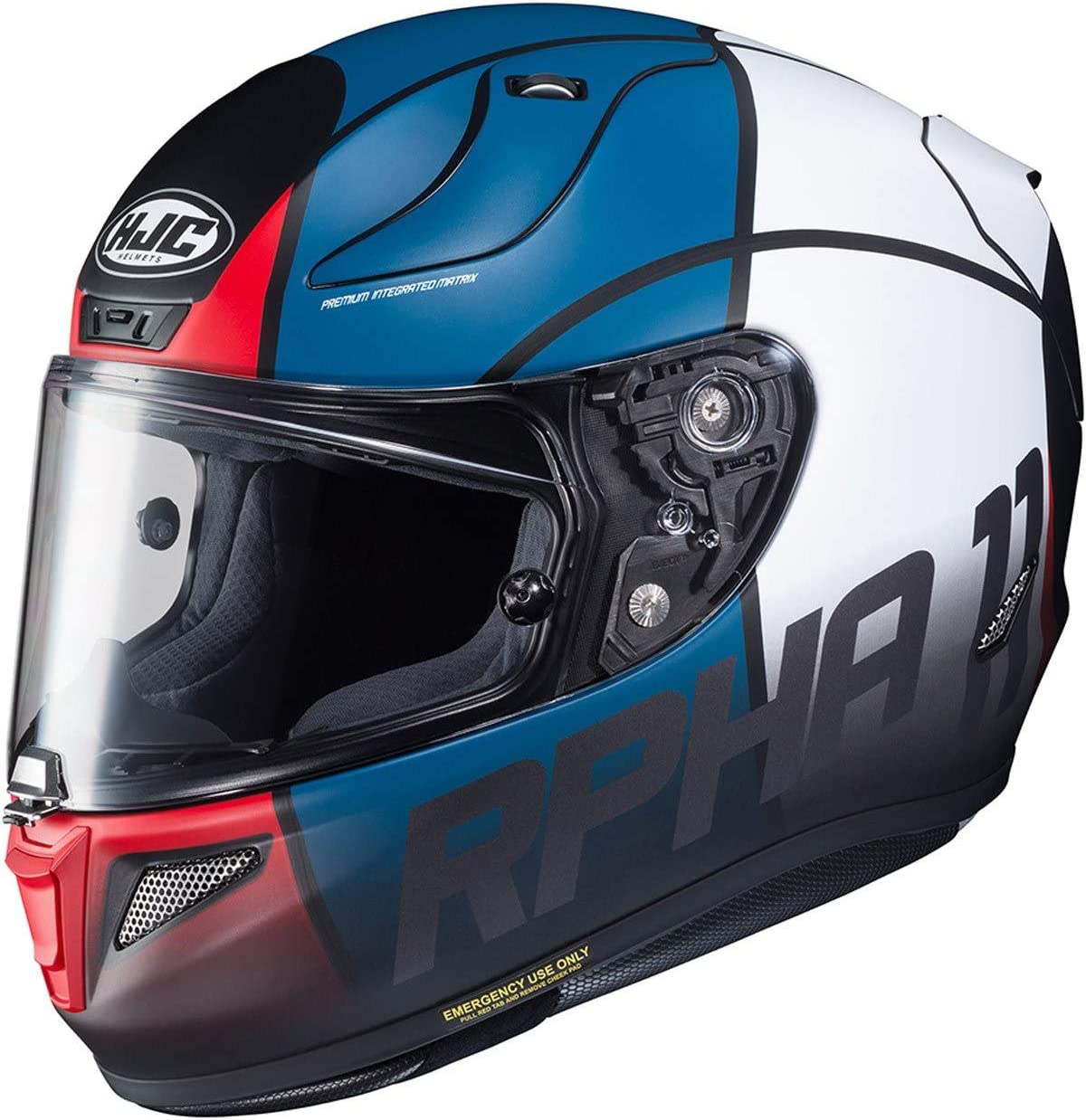 RPHA 11 Motorcycle Helmet Quintain MC21SF Red White Blue XS HJC