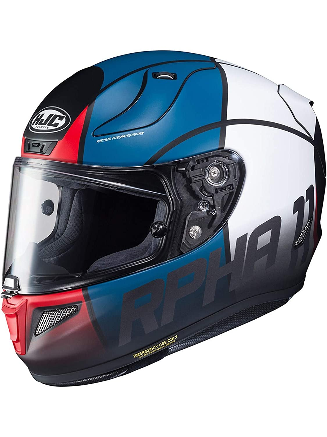 RPHA 11 Motorcycle Helmet Quintain MC21SF Red White Blue L HJC