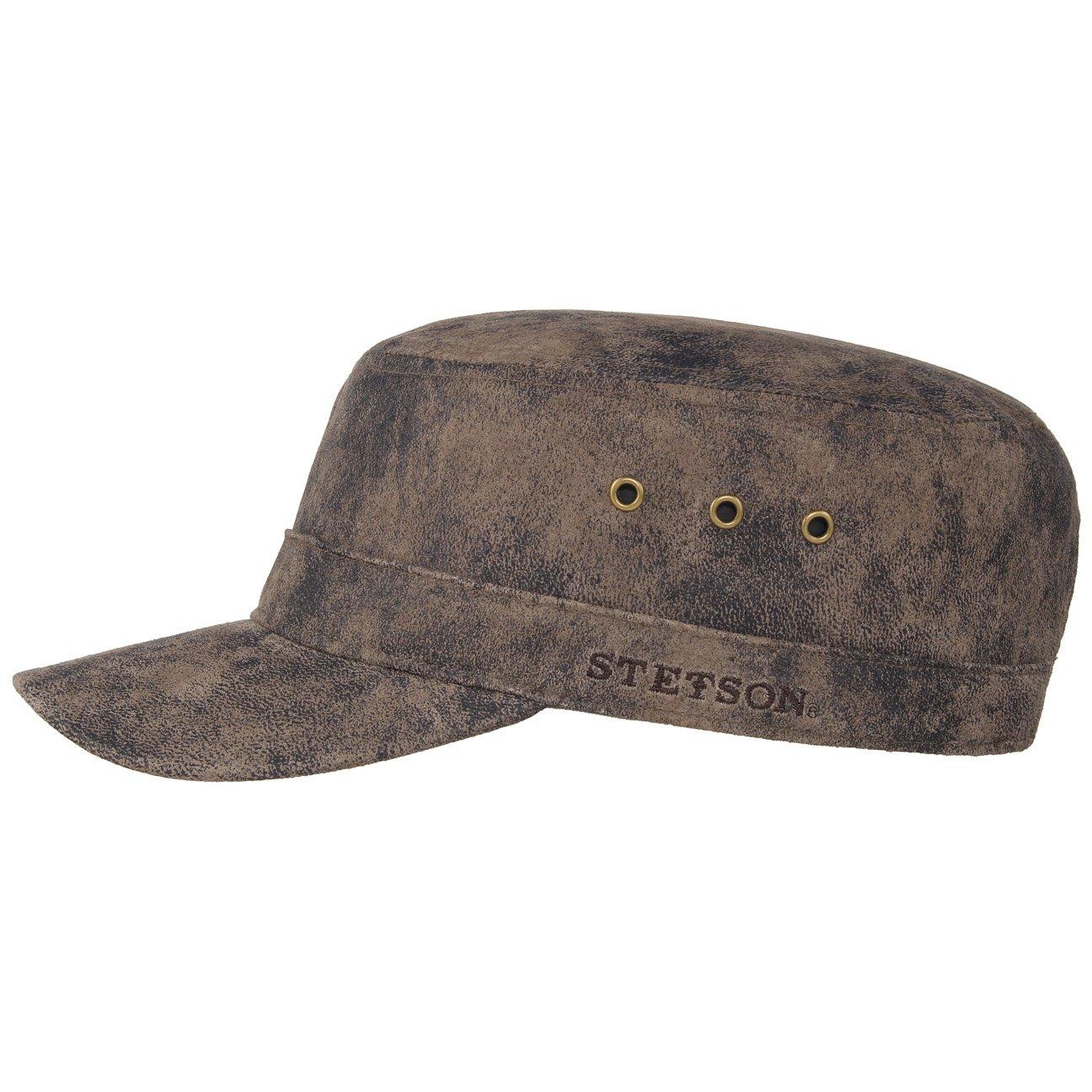 Stetson Raymore Pigskin Armycap Military Urban Cap Ledercap ...