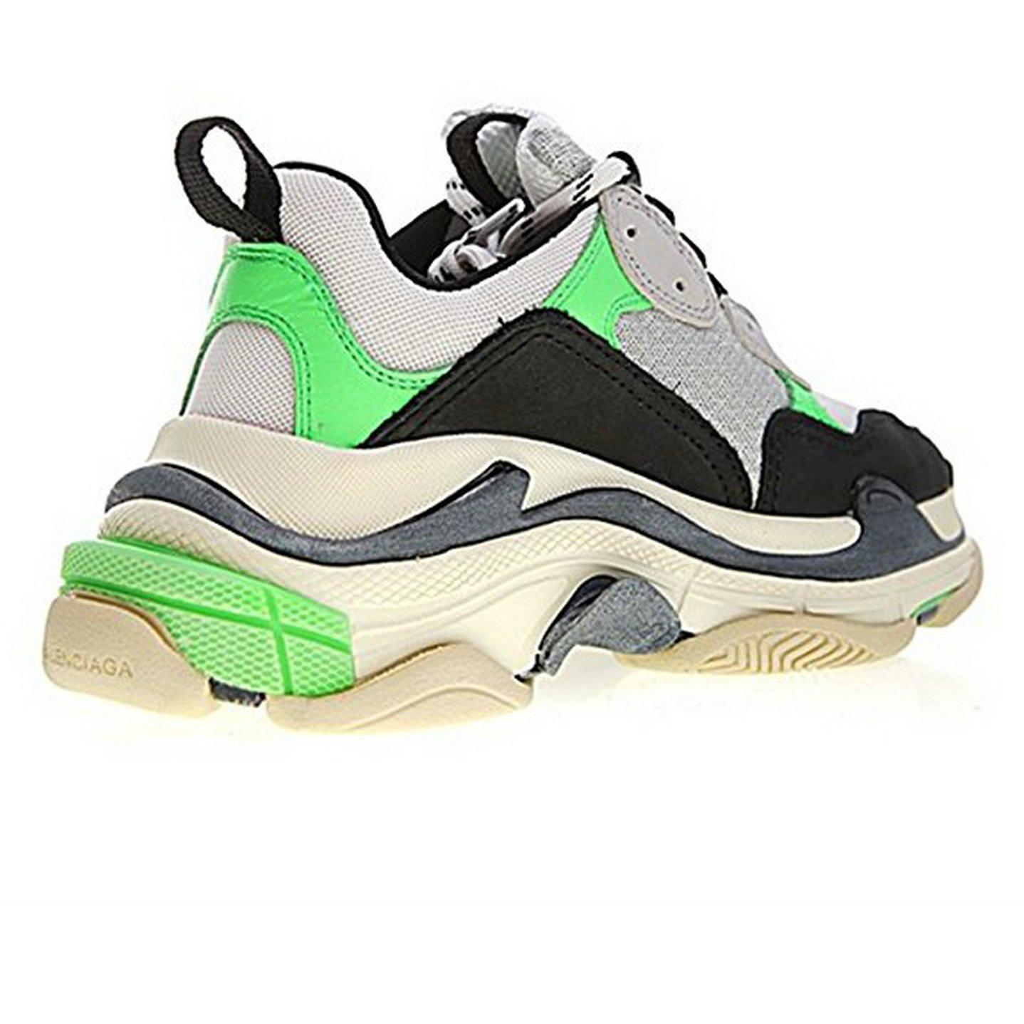Balenciaga Triple S Sneakers Mr. Porter Neon Green Unisex Hombre Mujer Balenciaga Zapatillas: Amazon.es: Zapatos y complementos